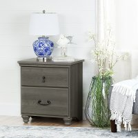 10241 Gray Maple 2-Drawer Night Stand - Noble