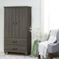 10243 Gray Maple Armoire with Drawers - Noble