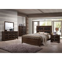 Contemporary Brown 6 Piece King Bedroom Set - Sussex