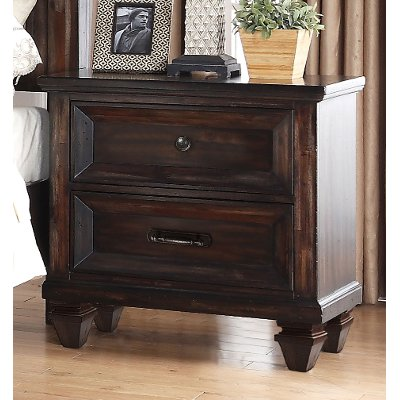 Walnut Brown Classic Traditional Nightstand - Sevilla