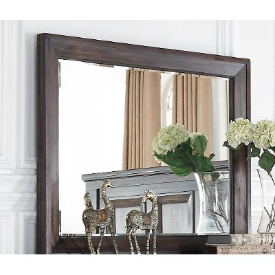 Classic Traditional Brown Traditional Mirror - Sevilla