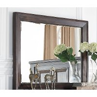 Walnut Brown Classic Traditional Mirror - Sevilla