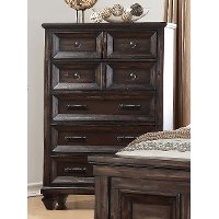 Classic Traditional Brown Chest of Drawers - Sevilla