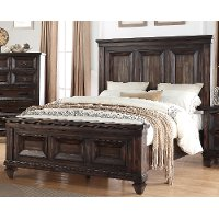Classic Traditional Brown Queen Bed - Sevilla