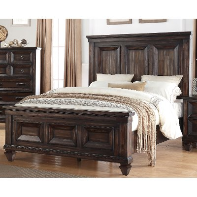 Classic Traditional Brown Traditional King Size Bed - Sevilla