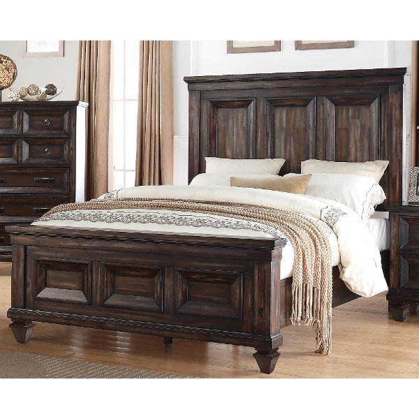 Walnut Brown Classic Traditional King Size Bed   Sevilla ...