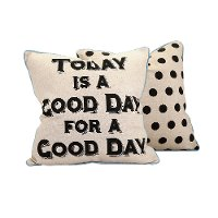 Today Is A Good Day Throw Pillow - Reversible