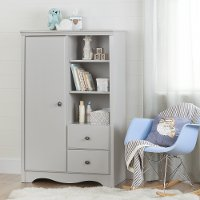 10230 Soft Gray Armoire with Drawers - Angel