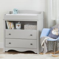 10231  Soft Gray Changing Table with Drawers - Angel