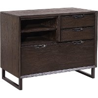 Hickory Brown Combination File Cabinet - Harper Point