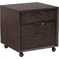 Hickory Brown 2 Drawer Rolling File Cabinet - Harper Point