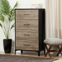 10497 Weathered Oak 4 Drawer Chest - Valet
