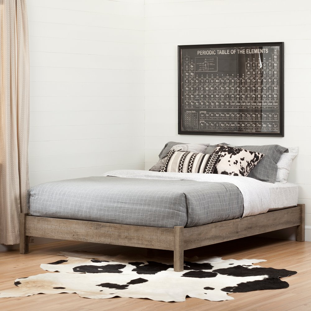 weathered oak fullqueen platform bed  munich . buy a new platform bed from rc willey