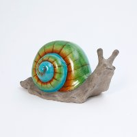 Terracotta Multi-Color Snail Figurine