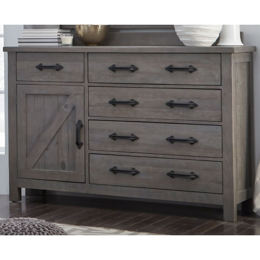 Gray Rustic Contemporary Door Chesser   Austin   RC Willey Furniture Store