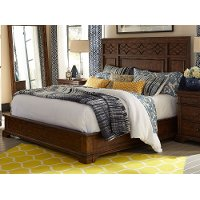 Clearance Coffee Brown Classic Traditional King Size Bed - Trisha Yearwood