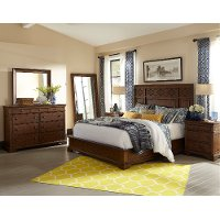 Coffee Brown Classic 6 Piece Queen Bedroom Set - Trisha Yearwood