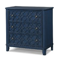 Blue Classic Traditional Bedside Chest - Trisha Yearwood