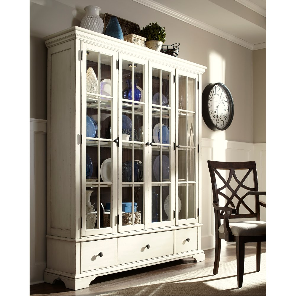 ... Clearance Cream Large Curio Cabinet   Trisha Yearwood Collection
