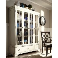 Cream Large Curio Cabinet - Trisha Yearwood