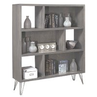 Modern Contemporary Driftwood Brown Bookcase - Studio