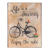 Life is a Journey Iron Wall Plaque