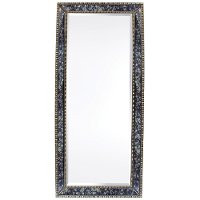Blue and Silver Floor Mirror