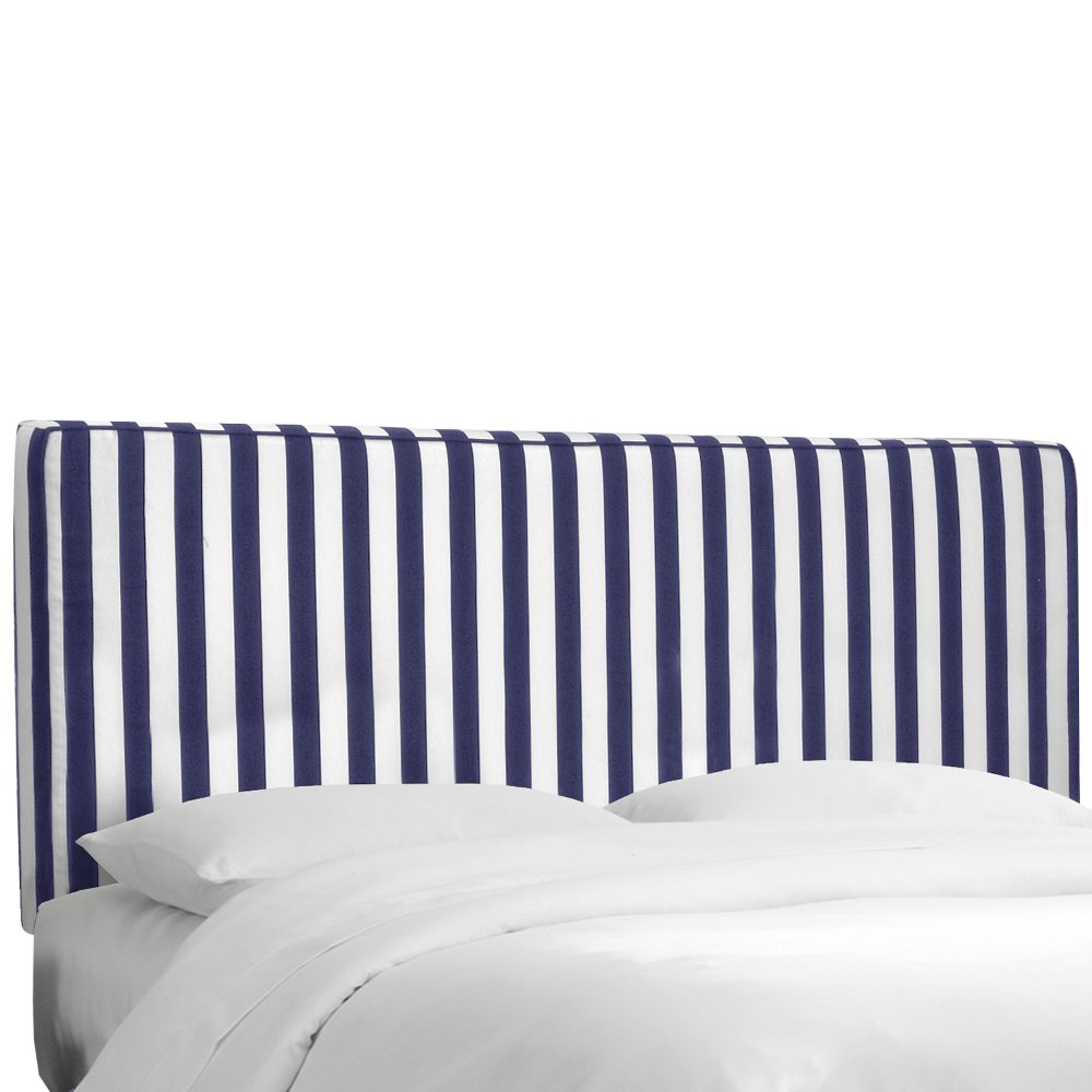 Blue U0026 White Stripe Upholstered Twin Headboard | RC Willey Furniture Store