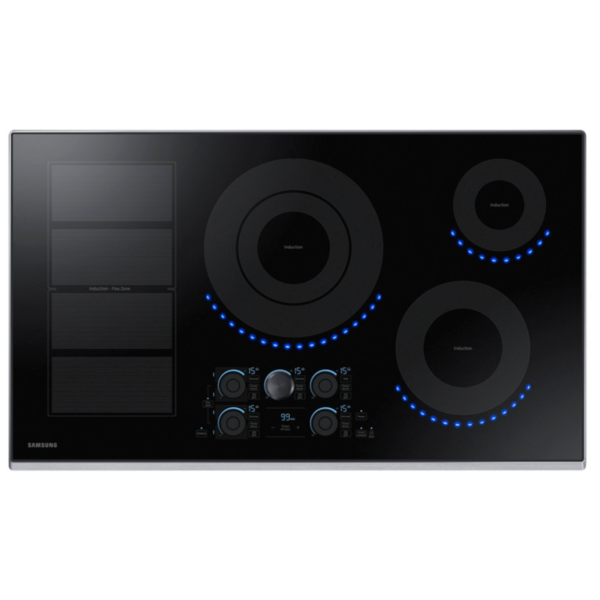 Samsung 36 Inch Induction Cooktop with Virtual Flame - Black