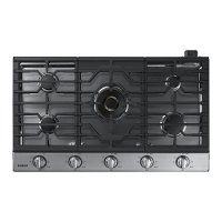 NA36K7750TS Samsung 36 Inch Gas Cooktop - Stainless Steel and Black