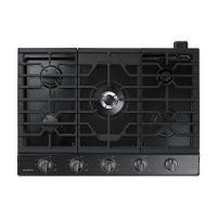 NA30K6550TG Samsung 30 Inch 5 Burner Smart Gas Cooktop - Black Stainless Steel