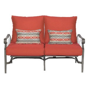 ... 16A3108W/RED/LOVE Clearance Outdoor Patio Love Seat   Bar Harbor