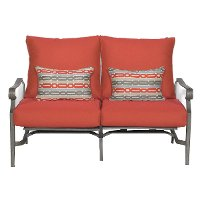 16A3108W/RED/LOVE Outdoor Patio Love Seat - Bar Harbor