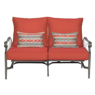 16A3108W/RED/LOVE Outdoor Patio Love Seat   Bar Harbor
