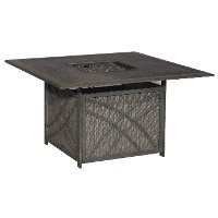 16A7452R/FIREPIT Bar Harbor Collection 46 Inch Outdoor Patio Concrete Fire Pit