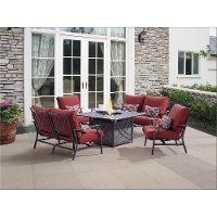 5 Piece Bar Harbor Outdoor Patio Fire Pit Chat Set Rc