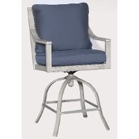 16A2681P/BLUE/BARSTL Blue Outdoor Patio Swivel Bar Chair - Acadia