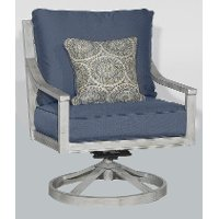 16A2681W/SWVLROCKER Blue Outdoor Patio Swivel Rocker Chair -Acadia