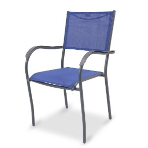 genevieve collection blue outdoor patio chair