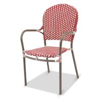 Clearance Outdoor Red Patio Chair - Mendocino