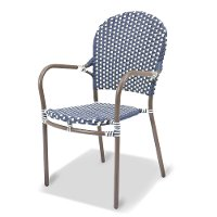 Clearance Outdoor Patio Chair in Blue - Mendocino