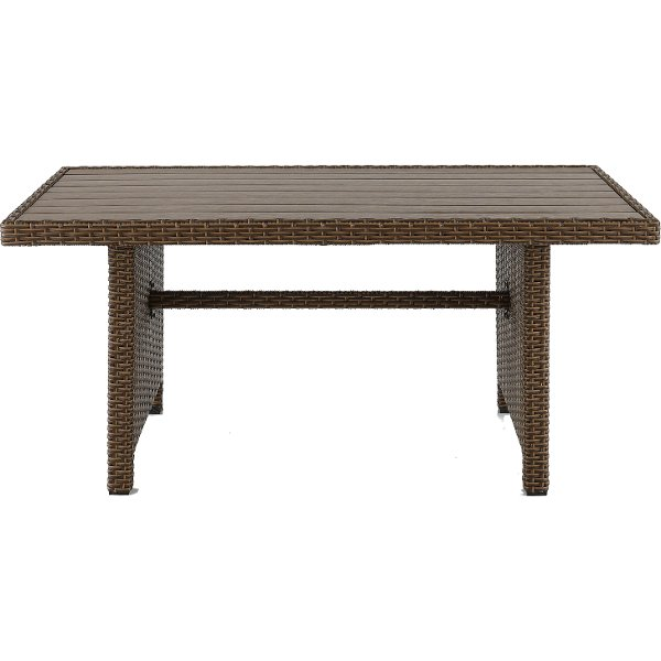 WB R1339 0155A/TABLE Arcadia Collection Outdoor Patio Wicker Dining Table