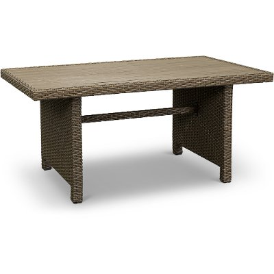 WB-R1339-0155A/TABLE Wicker Patio Dining Table - Arcadia