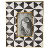 8 Inch Black and White Geometric Printed Picture Frame