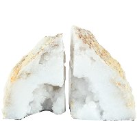 Natural Geode Bookend Pair
