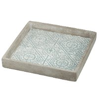 Small Blue Tiled Square Tray