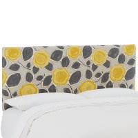 750TBLGRDCTR Garden Citrine Yellow & Gray Upholstered Twin Headboard