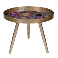 Multi-Color Livonia Side Table with Tray Top