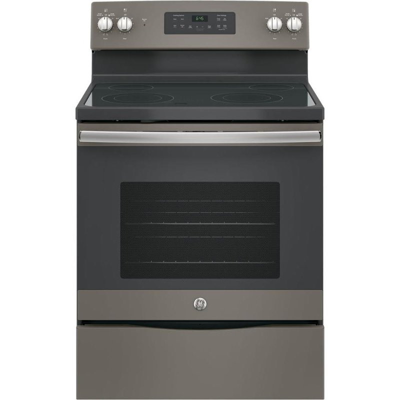 Ge Electric Range With Ceramic Gl Cooktop 5 3 Cu Ft Slate Rc Willey Furniture