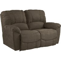480-537/C140879/MLV Chocolate Brown Manual Full Reclining Loveseat - Hayes